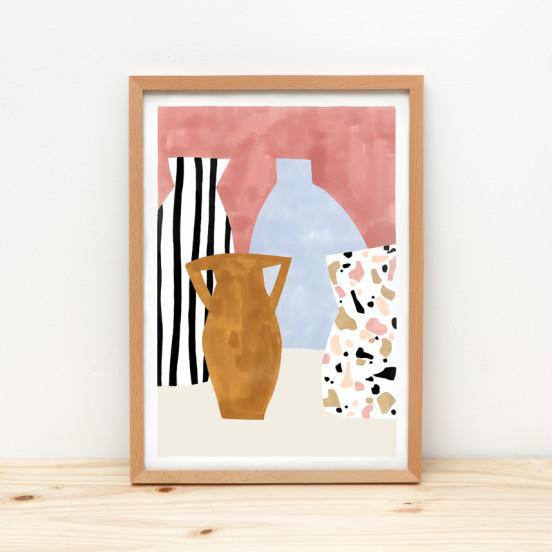 Depeapa Vases Terrazzo Illustration