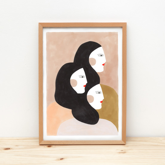 Depeapa sisters Illustration prints